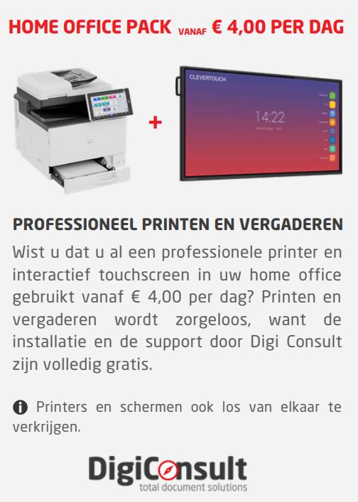 Printen en scannen vanuit uw home office